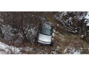 Amasya'da otomobil dere yatağına yuvarlandı: 5 yaralı