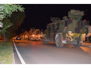 Suriye sınırına askeri araç ve komando takviyesi