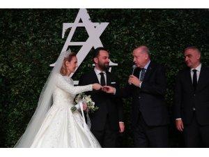 Cumhurbaşkanı Erdoğan, Ayşe Şahin ve Zafer Topaloğlu'nun nikah törenine katıldı