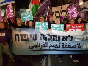 İsraillilerden ABD'nin sözde Orta Doğu barış planı protestosu