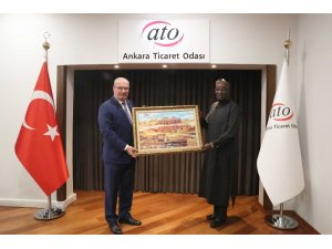 Nijerya Büyükelçisi Paragalda'dan ATO'ya ziyaret