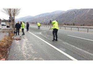 Kastamonu'da otomobil takla attı: 2 yaralı