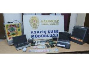 Gaziantep'te yasadışı bahis operasyonu