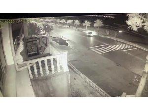 İki kişinin öldüğü kaza anı güvenlik kamerasında
