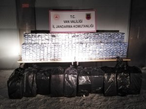 Çaldıran'da 13 bin paket kaçak sigara ele geçirildi