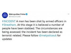 Londra'da bıçaklı terör saldırısı