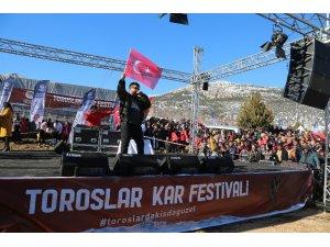 Toroslar Kar Festivali'nde Eypio rüzgarı esti