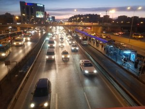 Yarı yıl tatili bitti trafik yoğunluğu arttı