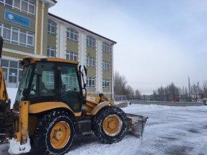 Ulaş'ta karla mücadele