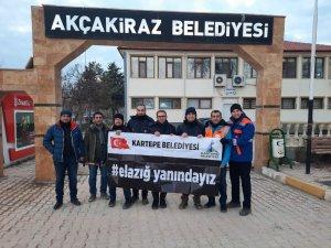 Kartepe teknik ekibi de Elazığ'da