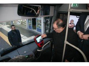 Kilis'te şehiriçi minibüslerde kart dönemi