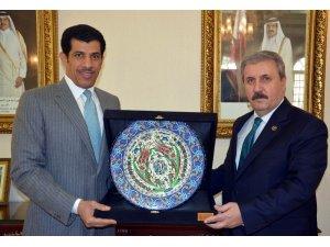 BBP Genel Başkanı Destici'den Katar'ın Ankara Büyükelçisi Al Shafi'ye ziyaret