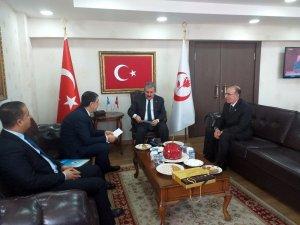 BBP Genel Başkanı Destici, Irak Türkleri Kültür ve Yardımlaşma Derneği Şube Başkanı Canbaz'ı kabul etti