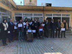 Kızıltepe'de engellilere yönelik muhasebe yardımcısı kursu tamamlandı