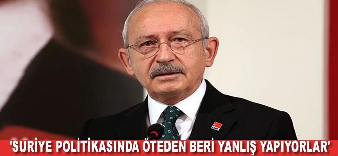 Kemal Kılıçdaroğlu'ndan dış politika eleştirisi