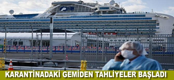 Japonya'da karantina altındaki gemiden tahliyeler başladı