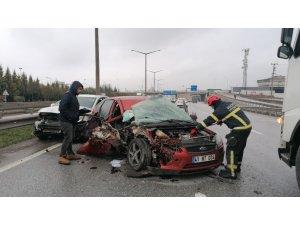Gebze'de zincirleme trafik kazası: 4 yaralı