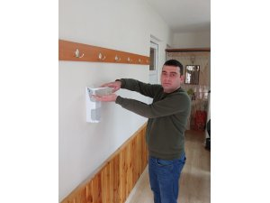 Körfez Belediyesi'nden muhtarlıklara el dezenfektanı