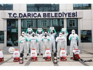 Darıca Belediyesi ekiplerinden 'Evde kal' çağrısı