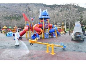 Isparta'da 326 park Korona virüs riskine karşın dezenfekte ediliyor