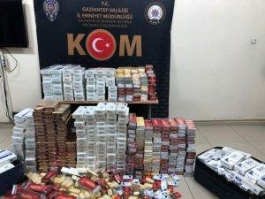 Gaziantep'te 6 bin 100 paket kaçak sigara ele geçirildi