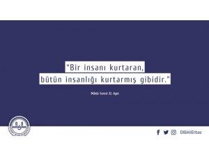 Diyanet İşleri Başkanı Erbaş'tan sağlık çalışanlarına destek mesajı