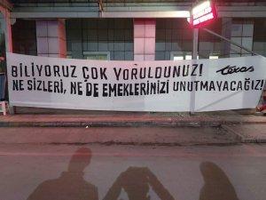 Bursaspor taraftarlarından sağlık çalışanlarına destek