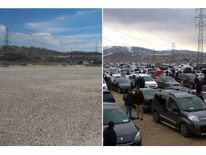 Van'da açık oto pazarının faaliyetlerine ara verildi