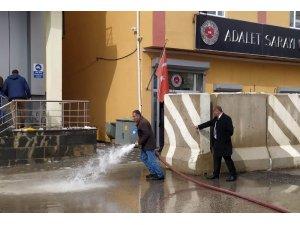 Bahçesaray Belediyesinden dezenfekte çalışması