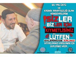 Nevşehir Belediyesi, 'Alo 153 vefa sosyal destek hattı' ile yaşlı, hasta ve engelliler için seferber oluyor