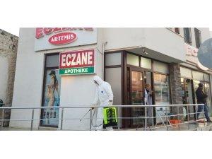 Bodrum Belediyesi tüm eczaneleri dezenfekte ediyor