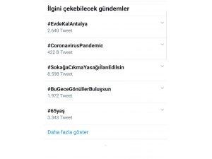 Tütüncü, 'Evde Kal Antalya' paylaşımıyla Twitter'da TT oldu