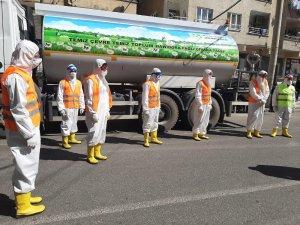 Bağlar sokaklarında korona virüse karşı dezenfekte seferberliği
