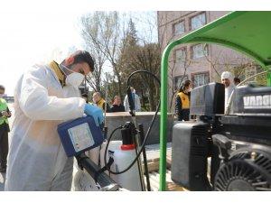 Eyüpsultan'daki siteler de temizlenip dezenfekte edildi