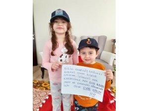 Samsunlu kardeşlerden 'evde kal' desteği