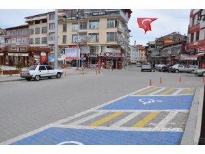 Korona virüs tedbirleri sebebiyle sokaklar boş kaldı