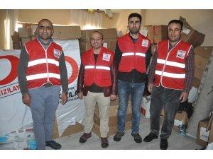 Kızılay Şubesinden 200 aileye gıda yardımı
