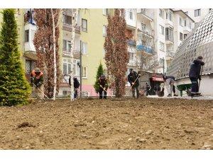 Çorum'da Belediye parkları yaza hazırlıyor