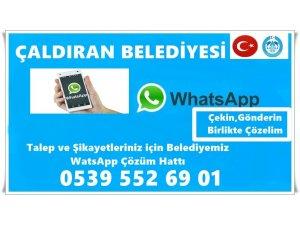 Çaldıran Belediyesinden korona virüsü salgınına karşı 'WhatsApp' hattı kuruldu