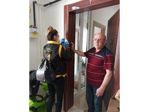 Aksaray'da polis ekipleri yaşlı ve hastalara online hizmet veriyor
