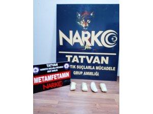 Bitlis'te 1 kilo metanfetamin ele geçirildi