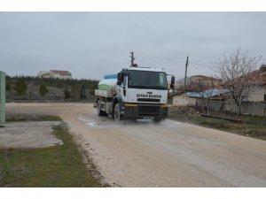 Çifteler Belediyesi dezenfekte çalışmalarına devam ediyor