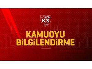 Kayserispor'da bir idari personelde sonuç pozitif çıktı