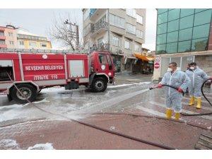 Nevşehir'de caddeler dezenfekte ediliyor
