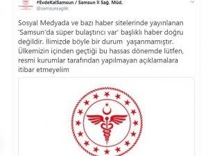 """Samsun Sağlık Müdürlüğünden Prof. Dr. Çetiner'e yalanlama: """"'Samsun'da süper bulaştırıcı var' doğru değil"""""""