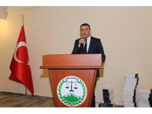 """Ağrı Barosu Başkanı Aydın: """"Avukat, adaletin vatandaşla kurduğu köprüdür"""""""