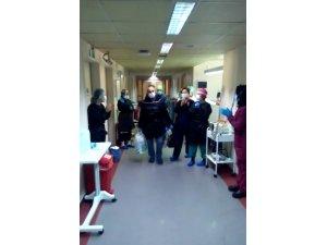 Korona virüs tedavisi bitti, hastaneden alkışlarla uğurlandı