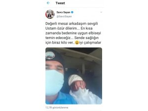 Belediye personeli ile Başkan Sayan'ın sosyal medyadaki atışması güldürdü