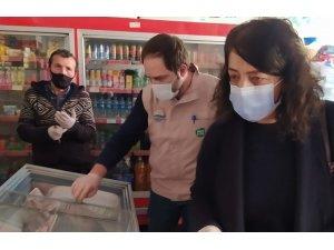 Alaçam'da gıda işletmelerine etiket ve hijyen denetimi