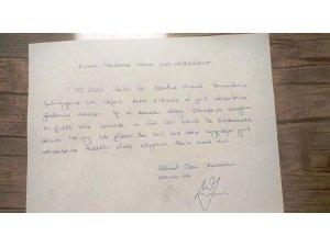 Karantina sürecini tamamlayanlardan teşekkür mektupları